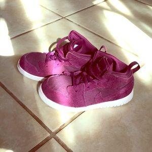Suede burgundy baby Nike Jordan's high top